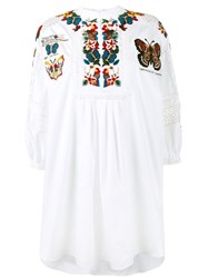 Valentino Embroidered Tunic Dress White