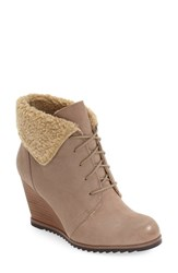 Caslonr Women's Caslon Gaby Faux Shearling Lace Up Bootie Sand Leather