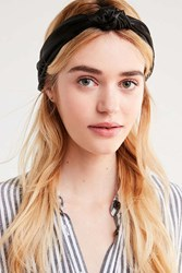 Urban Outfitters Satin Knotted Headwrap Black