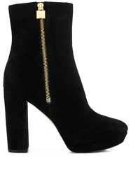 Michael Michael Kors High Heeled Ankle Boots Black