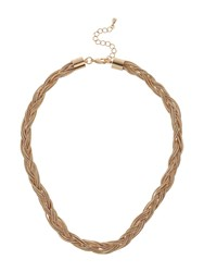 Mikey Multi Strand Twisted Rope Necklace Rose Gold