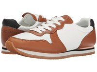 See By Chloe Mixed Material Sneaker Tan White Women's Lace Up Casual Shoes