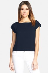 Women's Eileen Fisher Square Neck Crop Tee Midnight