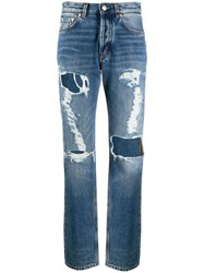 Givenchy Ripped Distressed Jeans Blue