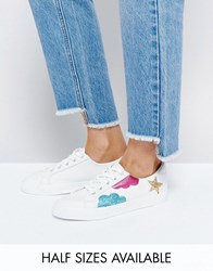 Asos Diamond Sky Lace Up Trainers White