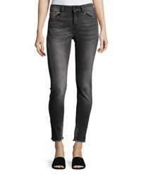 Etienne Marcel Mid Rise Cropped Skinny Jeans Gray