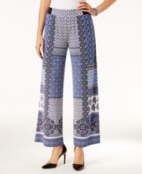 Inc International Concepts Printed Wide Leg Pants Only At Macy's Patchwork Medallion