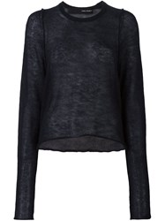 Isabel Benenato Fine Knit Jumper Black