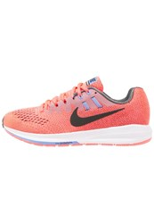 Nike Performance Air Zoom Structure 20 Stabilty Running Shoes Hot Punch Black Dark Grey Polar Wolf Grey White Coral