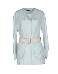 Maurizio Pecoraro Coats And Jackets Full Length Jackets Women Sky Blue