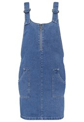 Noisy May Nmdean Denim Dress Medium Blue Denim