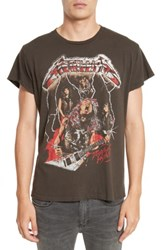 Madeworn Men's Metallica Glitter Graphic T Shirt Dirty Black