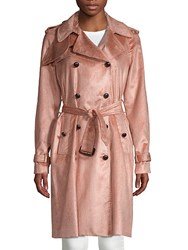 Adam By Adam Lippes Belted Trench Coat Pink