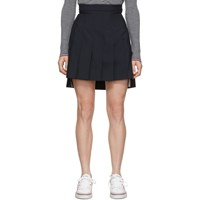 Thom Browne Navy Super High Waist Miniskirt