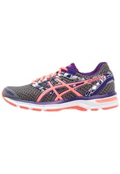 Asics Gelexcite 4 Cushioned Running Shoes Shark Flash Coral Parachute Purple Anthracite