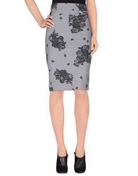 Denny Rose Knee Length Skirts Grey