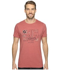 Royal Robbins Upward Variations Tee Cordwood Men's T Shirt Red