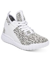 Wanted Hiphop Lace Up Flyknit Sneakers Women's Shoes White