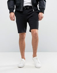 New Look Jersey Pique Shorts In Black Black