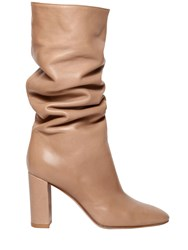 Gianvito Rossi 85Mm Slouchy Leather Boots