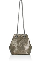 Barneys New York Women's Metal Mesh Bucket Bag Silver
