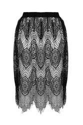 Mazzy Black Morocco Tile Lace Skirt By Goldie