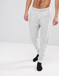 Abercrombie And Fitch Lounge Cuffed Joggers In Heather Grey Heather Grey
