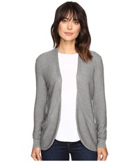 Lilla P Pocket Duster Sweater Heather Grey Women's Sweater Gray