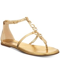 Bebe Pamelaa Flat Sandals Gold