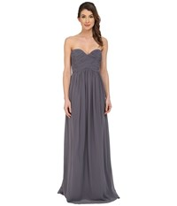 Donna Morgan Laura Long Chiffon Gown Dress Charcoal Women's Dress Gray