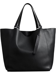 Burberry Large Bonded Leather Tote Black