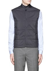 Paul Smith Quilted Puffer Vest Blue