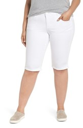 Wit And Wisdom Plus Size Women's Ab Solution Bermuda Shorts Optic White