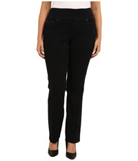 Jag Jeans Plus Size Peri Pull On Straight In Black Void Black Void Women's Jeans