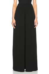Sass And Bide Ellipses High Waisted Viscose Pants In Black