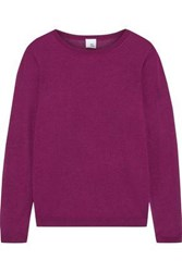 Iris And Ink Woman Gil Silk Cashmere Blend Sweater Plum