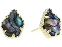 Kendra Scott Tessa Earring Gold Abalone Shell Earring