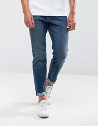 Selected Homme Jeans In Straight Fit Medium Blu Blue