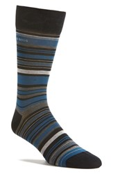 Boss Men's 'Rs Design Alt Stripe' Socks Dark Blue