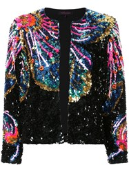 Manish Arora Lower Pattern Sequin Jacket Black