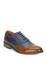 Steve Madden Wingtip Leather Oxfords Black Brown