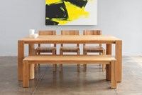 Mash Studios Pch Series Dining Table And Bench Natural