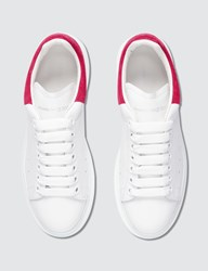 Alexander Mcqueen Raised Sole Low Top Leather Trainers White