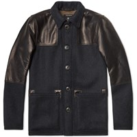 Nigel Cabourn Donkey Jacket Navy And Black