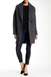 7 For All Mankind Shawl Collar Coat Gray