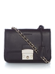 Coccinelle Margo Chain Foldover Crossbody Bag Black