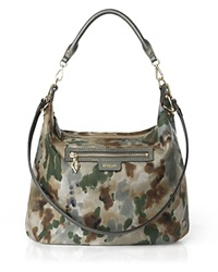 M Z Wallace Mz Wallace Siena Forest Print Hobo Forest Print Twill