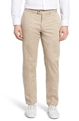Brax Men's Big And Tall Flat Front Stretch Trousers Beige