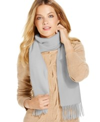 Charter Club Solid Woven Cashmere Scarf Only At Macy's Heather Crystal