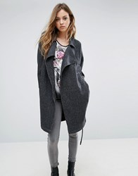 Religion Cheat Trench Coat Charcoal Grey